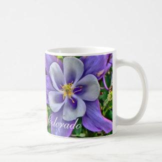 Colorado columbine flower coffee mug