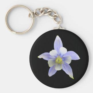 Colorado Columbine Key Ring