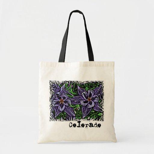 Colorado columbines reusable bag
