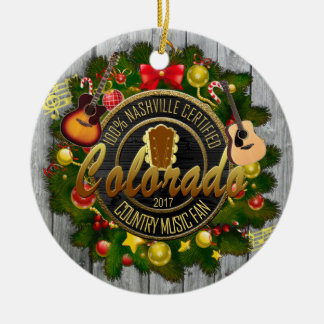 Colorado Country Music Fan Christmas Ornament
