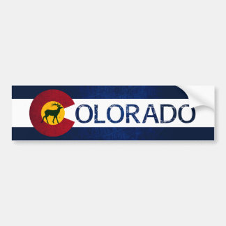 Colorado deer stripe bumper sticker