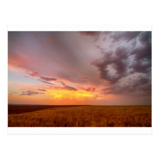 Colorado Eastern Plains Sunset Sky Postcard