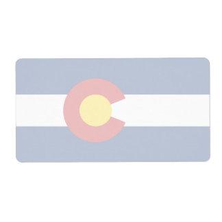 Colorado Faint Flag Shipping Label