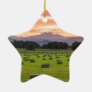 Colorado_Farmers_Burning_Sunset Ceramic Star Decoration