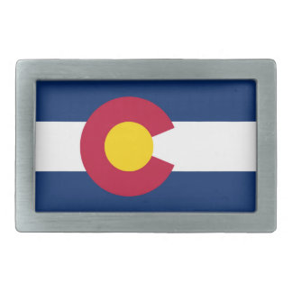 Colorado flag belt buckles