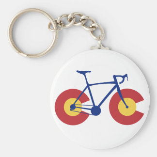 Colorado Flag Bicycle Key Ring