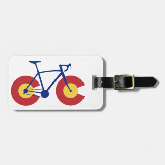 Colorado Flag Bicycle Luggage Tag