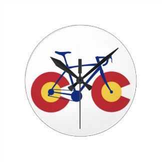 Colorado Flag Bicycle Wall Clock