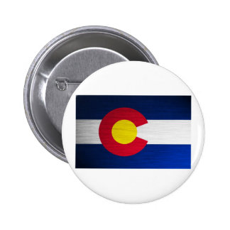 Colorado Flag Brushed Button