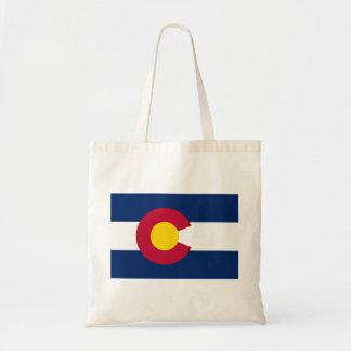Colorado Flag Budget Tote Bag
