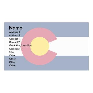 Colorado Flag Business Card Template