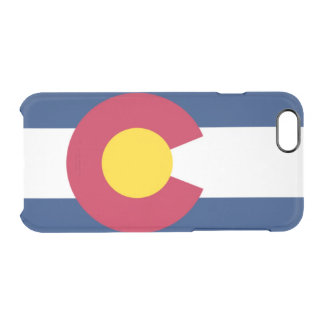 Colorado flag clear iPhone 6/6S case