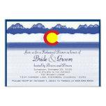 Colorado flag custom rehearsal dinner cards 9 cm x 13 cm invitation card