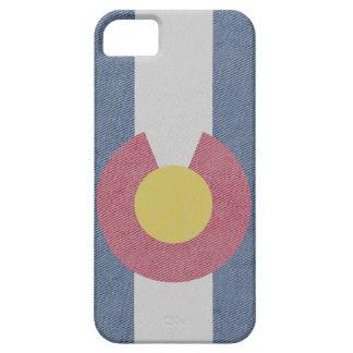 Colorado Flag: Denim Print iPhone 5 Cover