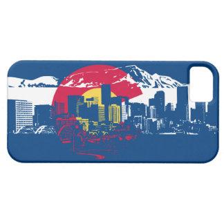 Colorado Flag - Denver Skyline - Phone Case