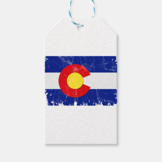 Colorado Flag Distressed Gift Tags