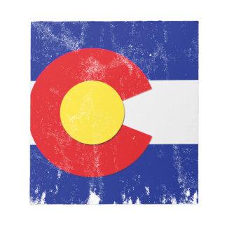 Colorado Flag Distressed Notepad