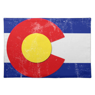 Colorado Flag Distressed Placemat