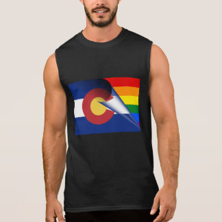 Colorado Flag Gay Pride Rainbow Sleeveless Shirt