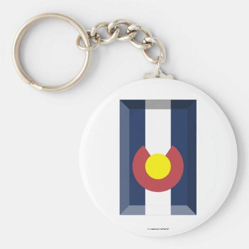 Colorado Flag Gem Key Chains