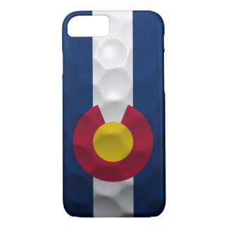Colorado Flag Golf Ball Pattern iPhone 8/7 Case