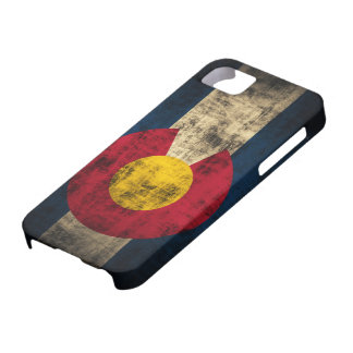 Colorado Flag Grunge iPhone 5 Barely Case