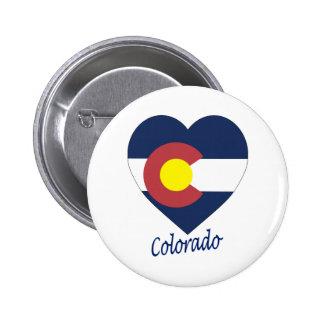 Colorado Flag Heart Pins