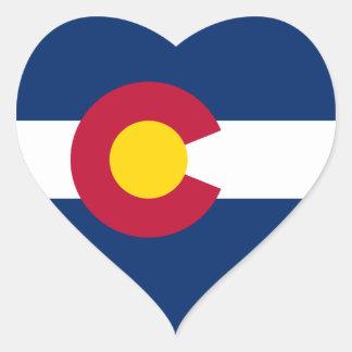 Colorado Flag Heart Sticker