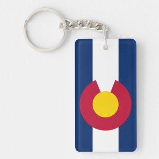 Colorado flag Double-Sided rectangular acrylic key ring