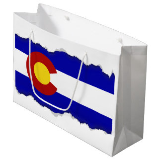 Colorado flag large gift bag