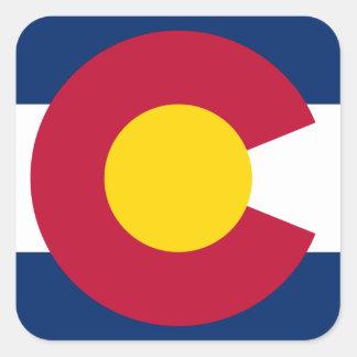 Colorado Flag Logo Square Sticker