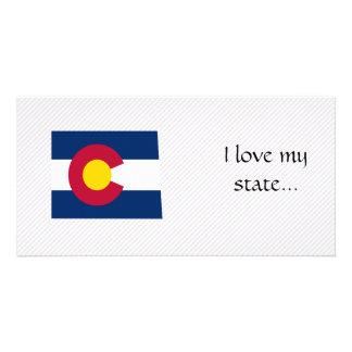Colorado Flag Map Photo Card