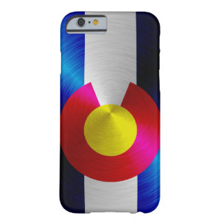 Colorado Flag; metal-look iPhone 6 case