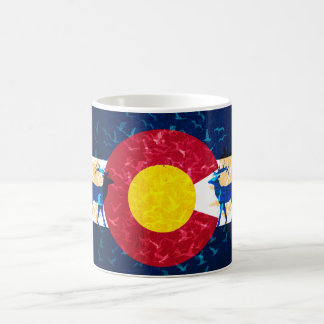Colorado flag nature scene coffee mug cup