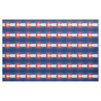 Colorado flag repeat pattern fabric