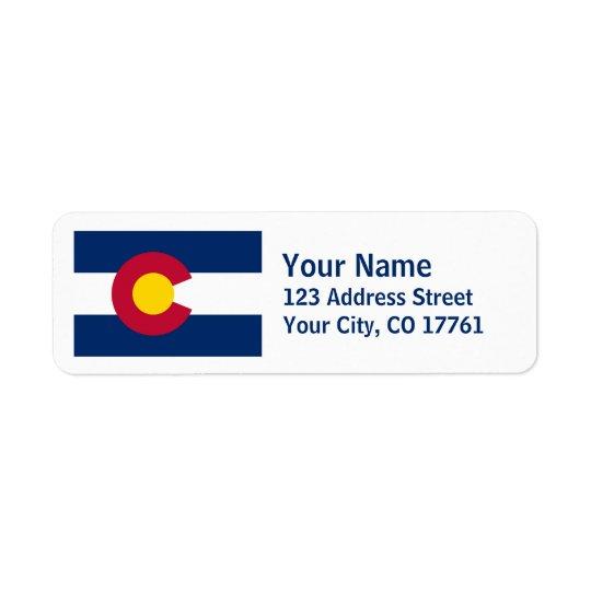 Colorado Flag Return Address Labels