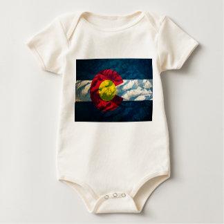 Colorado flag Rock Mountains Baby Bodysuit