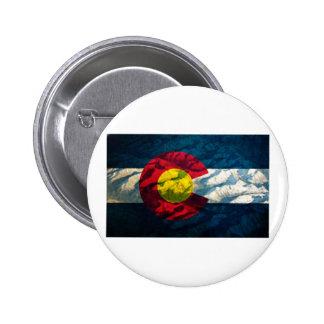 Colorado flag Rock Mountains Buttons