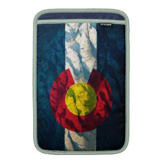 Colorado flag Rock Mountains MacBook Sleeves