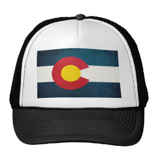 Colorado Flag Rustic Trucker Hats