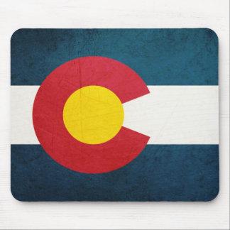 Colorado Flag Rustic Mouse Pad