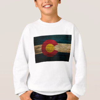 Colorado Flag Rustic Old Wood Sweatshirt