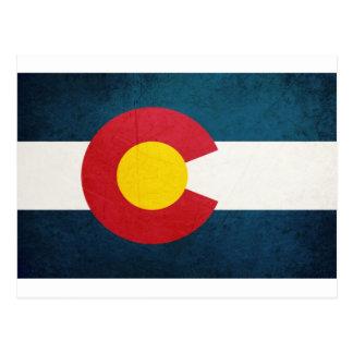 Colorado Flag Rustic Postcard