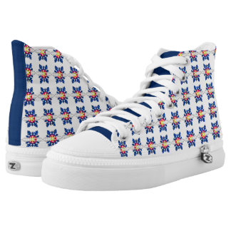 Colorado flag snowflake high top sneaker shoes printed shoes