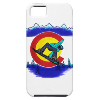Colorado flag symbol teal snowboard iphone case