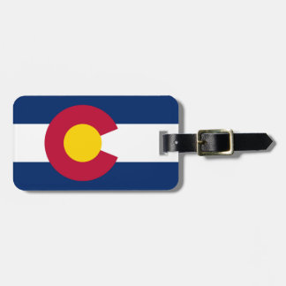 Colorado flag tags for luggage
