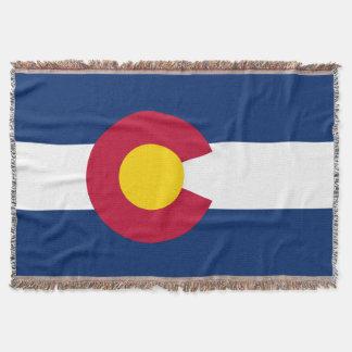Colorado Flag Throw Blanket