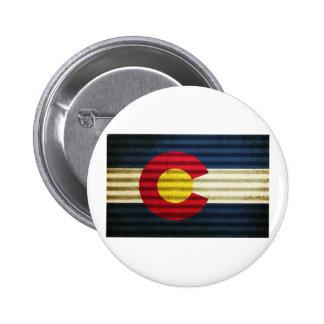Colorado Flag Tin Roof Buttons