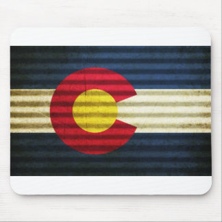 Colorado Flag Tin Roof Mouse Pad