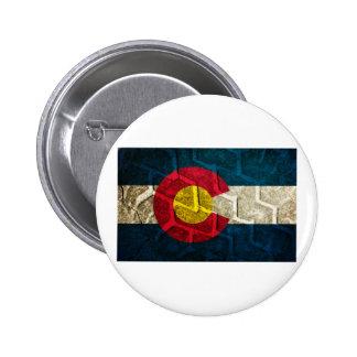 Colorado Flag Tire Tread Pinback Button